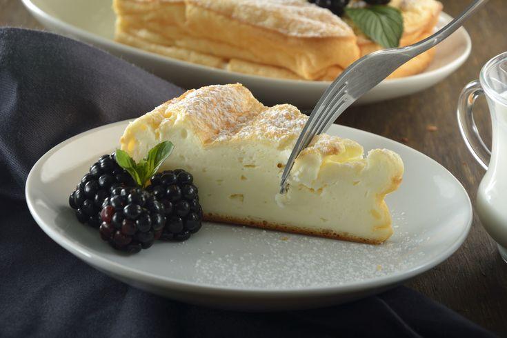 Pastel de queso con chocolate blanco sin harina