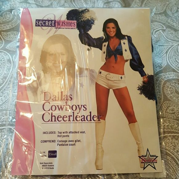 Halloween Costume New in great condition never been worn Dallas Cowboys Cheerleader outfit : Includees: Top with attached Vest, Hot pants Secret Wishes  Other