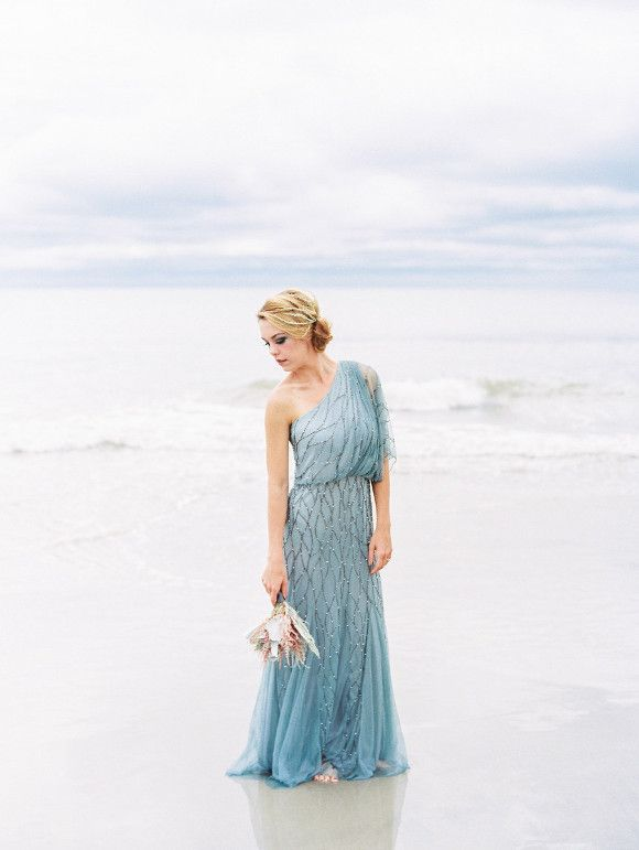 Pale Blue Coastal Wedding Inspiration | Wedding Sparrow