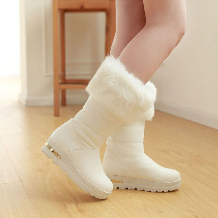 Fashion New 2016 Women Snow Boots Winter Shoes with Fur 1839