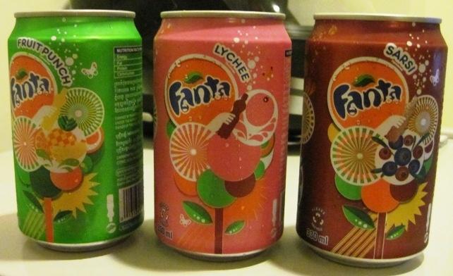 Fanta's flavours