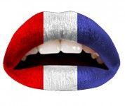 Mit dem Lippentattoo Flaggen Frankreich sind deine Lippen schneller als je zuvor gestylt.