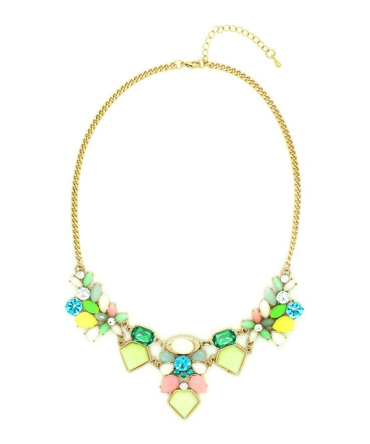 Gold & Mint Emilia Necklace