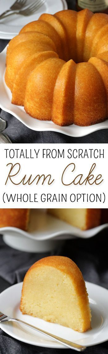 This Totally from Scratch Rum Cake is full of rum and has a whole grain option!