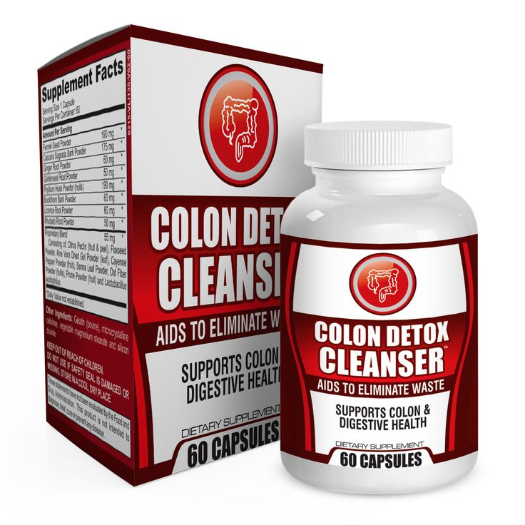 Colon Detox Cleanser Supplement - Eliminate Waste and Supports Digestive / Colon Health