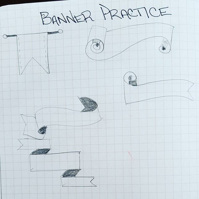 As per my #junegoal, I am going to learn how to draw banners. Lucky for me I…