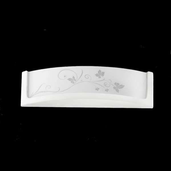 Kinkiet LAMPA ścienna SOL SL.085 ceramiczna OPRAWA IP20 kwiaty biała