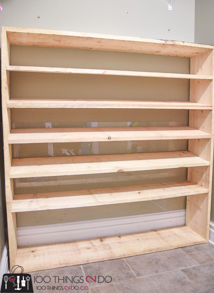 How To Make A Super Sized Shoe Rack On A Budget Diy Shoe Storage Homemade Shoe Rack Shoe Rack Closet
