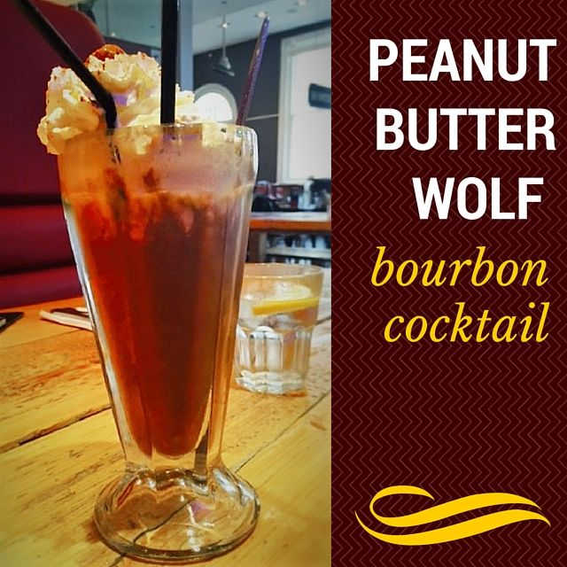 Peanut butter wolf cocktail with bourbon, chocolate ice cream and malt. This is really good!