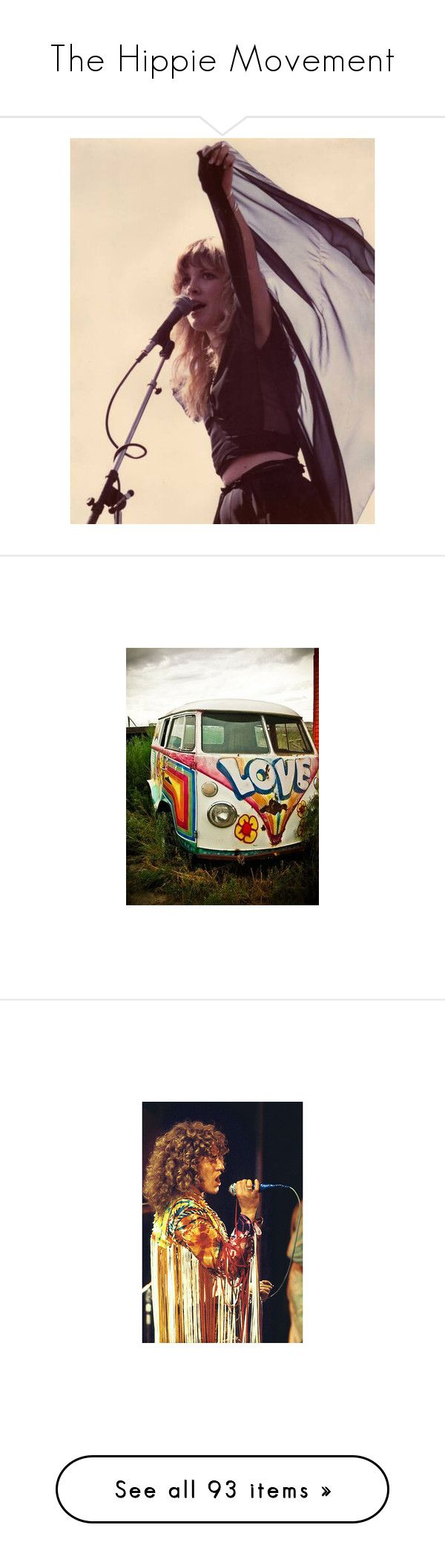 """""""The Hippie Movement"""" by mygypsyheart ❤ liked on Polyvore featuring backgrounds, pictures, fillers, photos, fotos, hippie, cars, quotes, phrase and saying"""