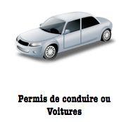 Permis de conduire ou voiture