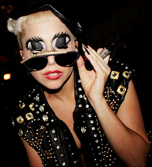 Gaga inspires me because she isn't afraid to be different!