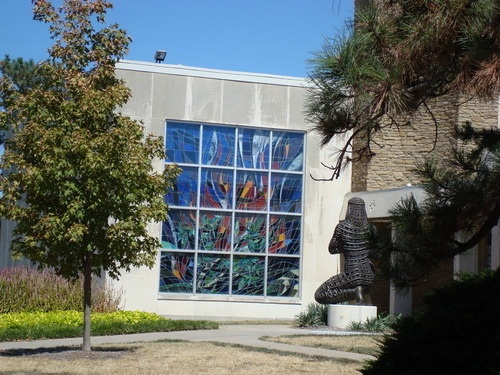 Beautiful stained glass, Smith Hall, University of Kansas