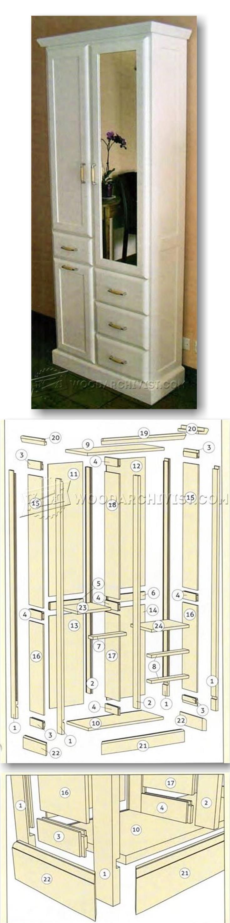 Hall Cupboard Plans - Furniture Plans and Projects | WoodArchivist.com