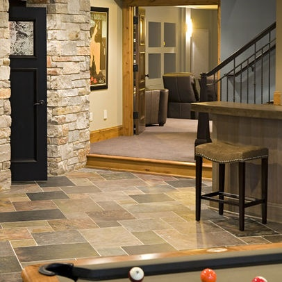29 best images about unfinished basement ideas on for Basement bathroom flooring ideas