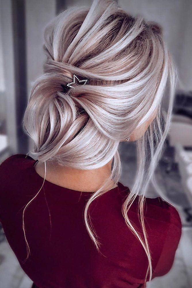 30 Bridesmaid Updos - Elegant And Chic Hairstyles ❤ bridesmaid updos low elegant updo with loose curls nikihair.ru #weddingforward #wedding #bride
