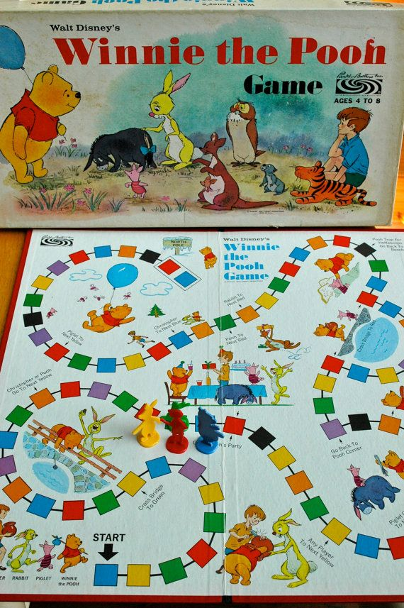 Winnie the Pooh Board Game. Cute, but the board could have better graphics.