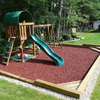 Backyard Playscape Designs 12 natural playground design In Ground Custom Playground With Rubber Mulch Yelp