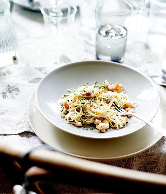 Australian Gourmet Traveller recipe for lobster tagliarini.