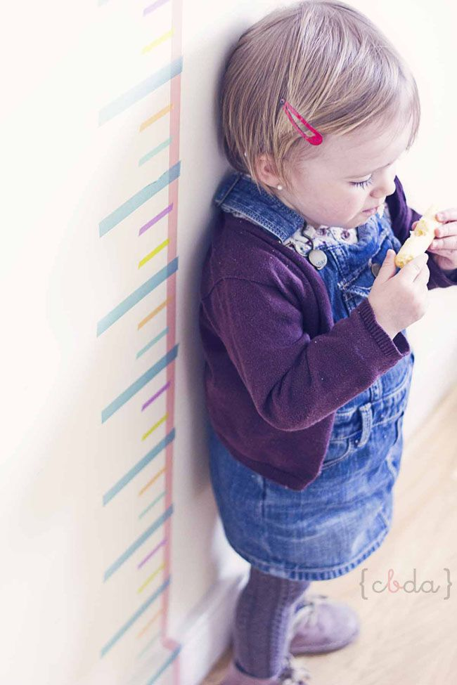 Brilliant use for washi tape as a way to measure your kiddos.