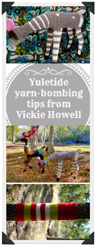 Yuletide yarn-bombing tips from @Vickie Howell :) #Christmas #fun