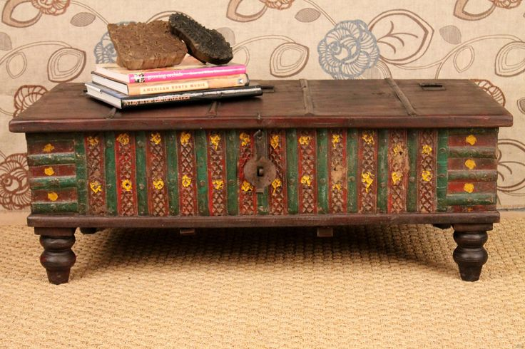 Red Green Antique Trunk Coffee Table. $599.00, via Etsy.