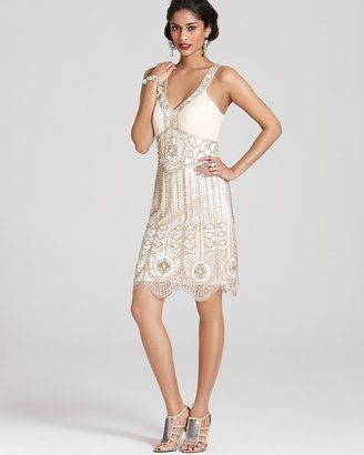 Sue Wong Dress - Beaded V Neck