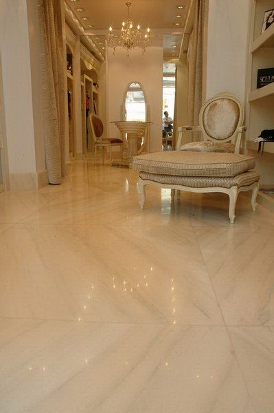 Floor application with rosa portogallo marble