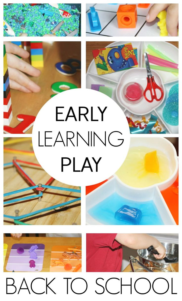 35 Back to School Early Learning Play Activities