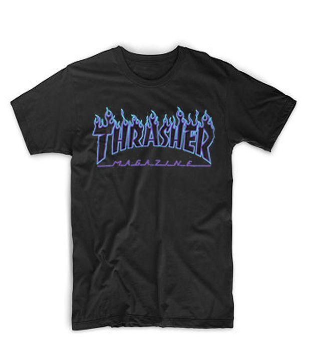 e3d457f4f Blue Print Thrasher Magazine Black T-Shirt #casual #cheapclothes #cheaptees  #cheaphoodie #tshirt #shirt #hoodie #tanktop #sweatshirt #comfort #cotton  #daily ...