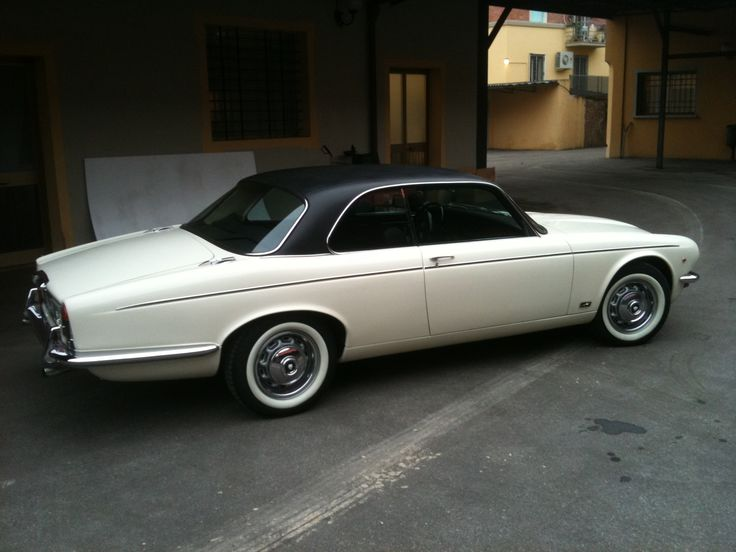 Jaguar XJ12  Coupé. Not the best photo of a truly beautiful auto which was only manufactured for 2 yrs