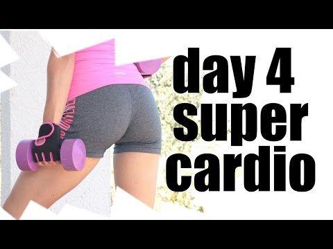 Cardio para bajar peso en casa - día 4 #cardiomes semana 1 - YouTube