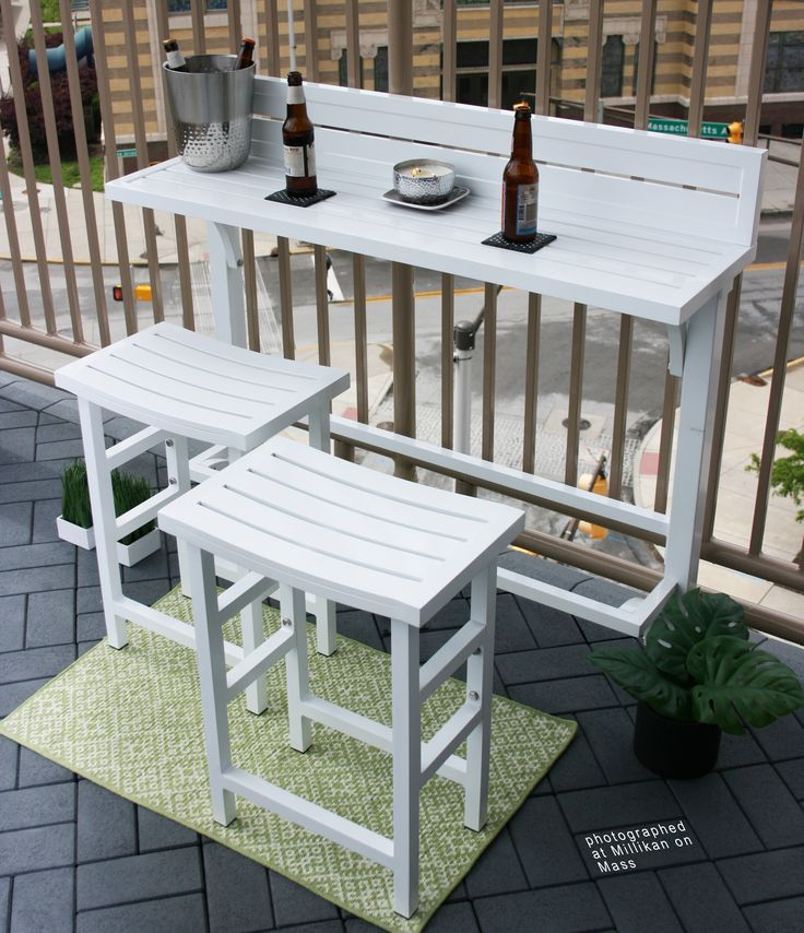 Lovely Outdoor Balcony Bar Set