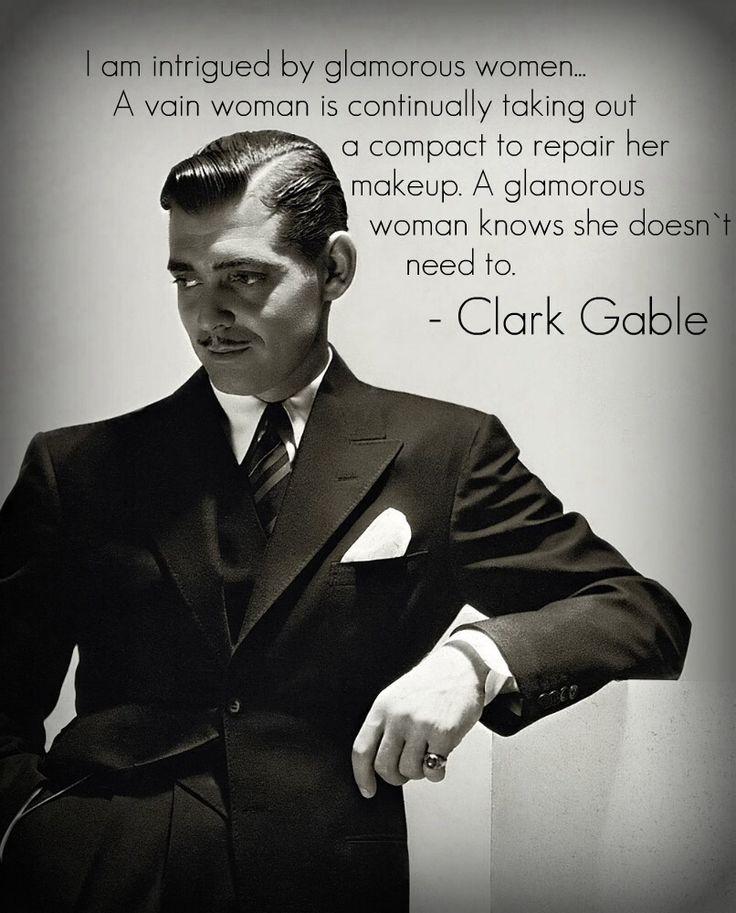 Clark Gable - glamorous women