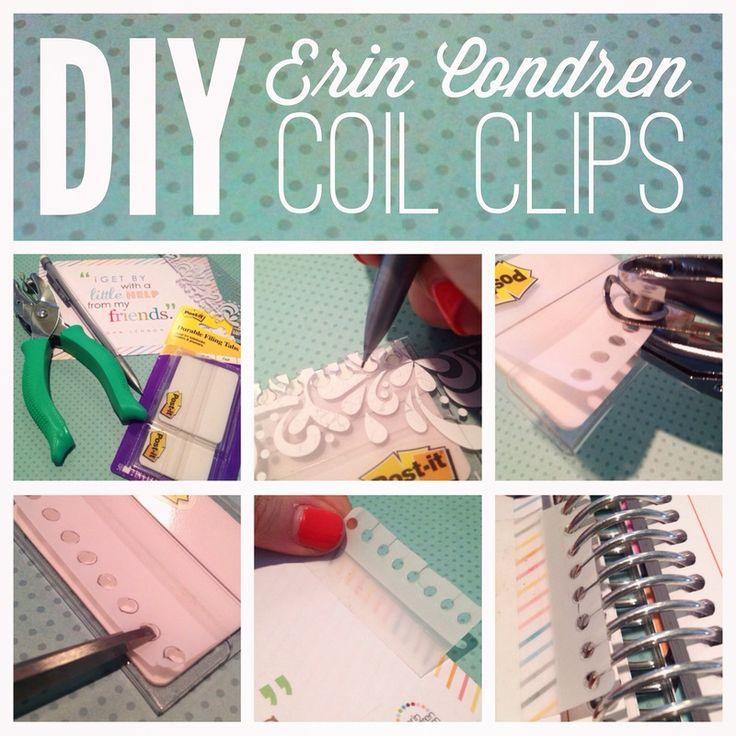 Erin Condren Life Planner How-To: DIY Coil Clips