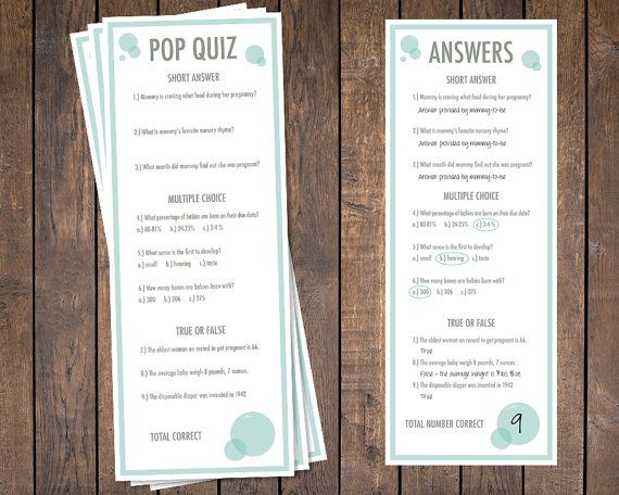 Pop Quiz She is about to pop Baby Shower by HappySquirrelDesign, $18.00