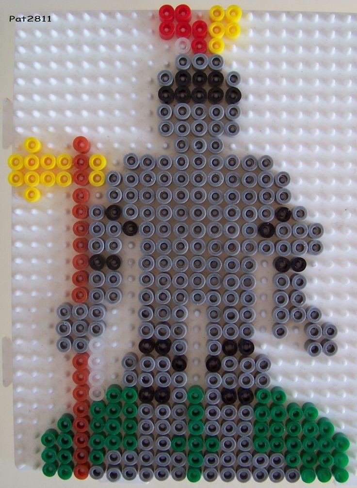 Ritter Bügelperlen / Knight perler hama beads