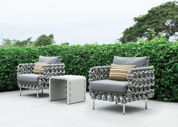 ... Wrapped Foam On A Steel Frame, This Easy Chair Blurs The Lines Between  Indoor And Outdoor Living Available At IDUS Furniture Store, New Delhi,  India.