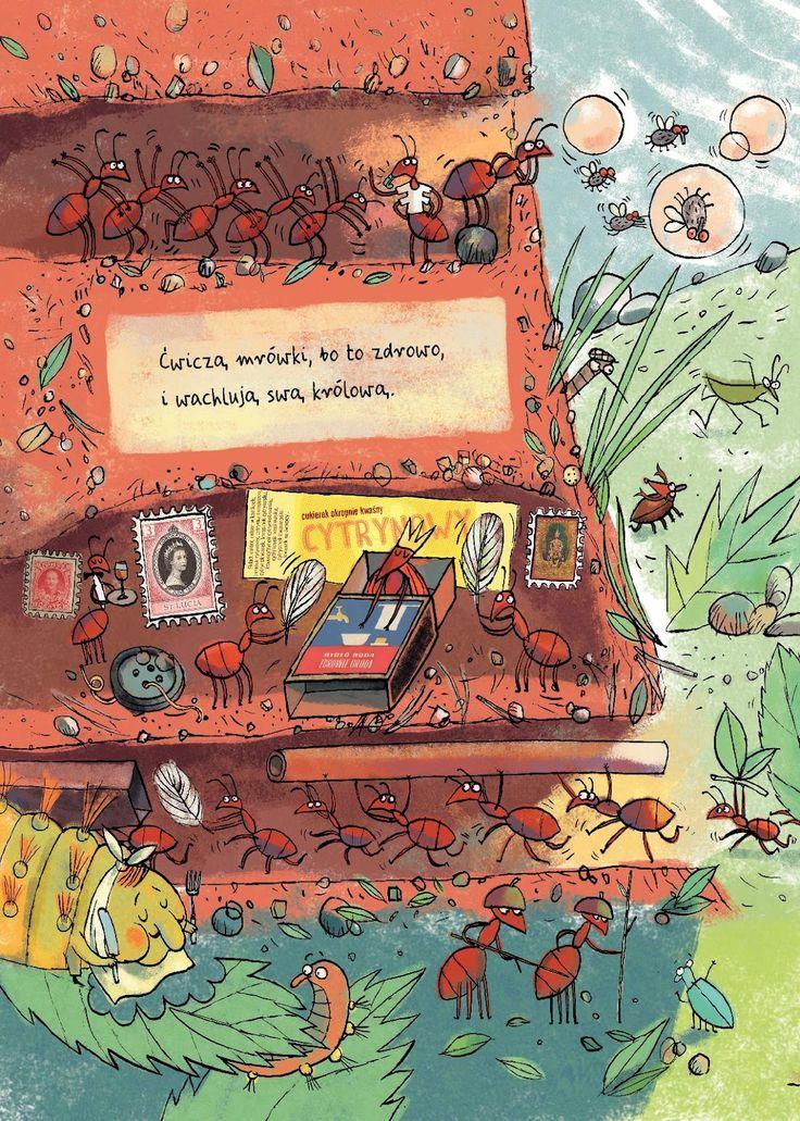 polska ilustracja dla dzieci: Zapowiedź - Opowiem ci, mamo, co robią pająki