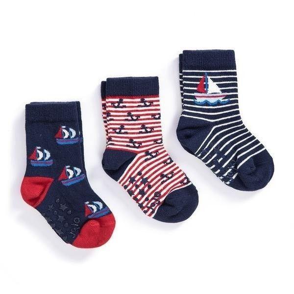 Jojo Maman Bebe 3 Pack Nautical Socks