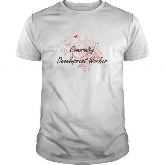 Community Development Worker Artistic Job Design with Butterflies T-Shirts, Hoodies (19$ ==► Order Here!)