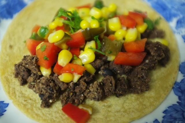 black bean tacos with corn salsa | yum. | Pinterest