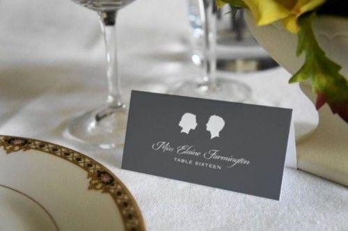 17 Silhouette Wedding Placement Cards And Escort Cards | Weddingomania