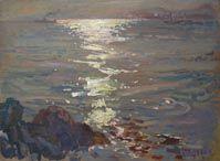 Sun over the Tay by Alberto Morrocco RSA
