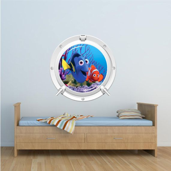 Full colour disney finding nemo dory wall art sticker boys for Finding dory wall decals