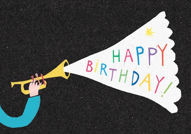 Happy Birthday Card - Louise Lockhart   Illustration   Design   The Printed Peanut