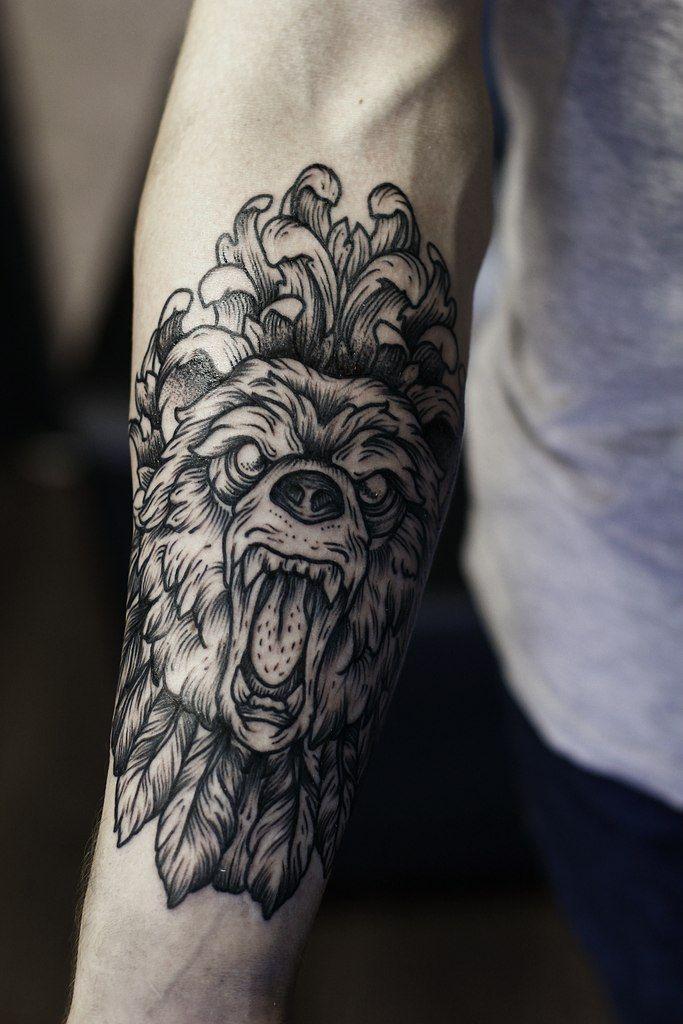 inkeddotwork:  Family Ink Tattoo http://instagram.com/familyinktattoo #ink #tattoo #bear