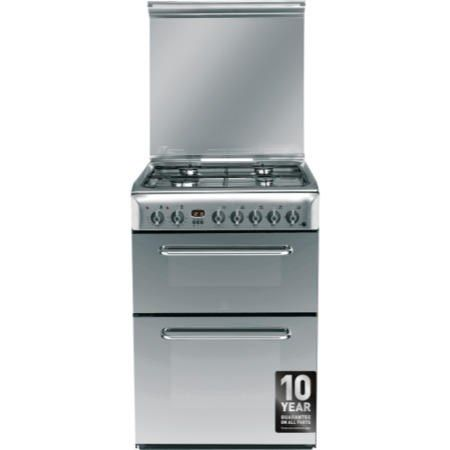 Buy Indesit KDP60SES 60cm Wide Double Oven Dual Fuel Cooker - Stainless Steel from Debenhams Plus