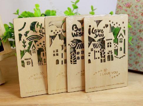 Дом искусства открытки дизайн шпоном украшение 4 скороговорки ( только для вас / счастливым каждый день / я люблю / с наилучшими пожеланиями ) купить на AliExpress