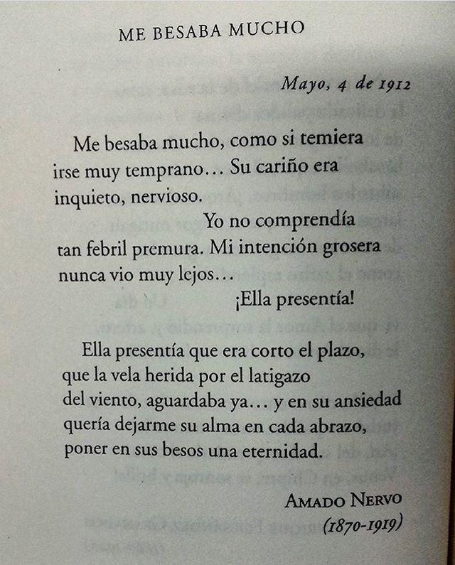 Me besaba mucho  Autor: Amado Nervo  #cementeriodelibros